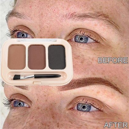 Eyebrow Enhancer Powder 3 Color Palette Long-lasting