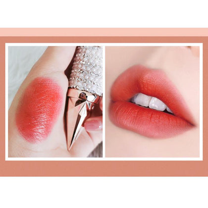 Matte Lipstick Waterproof Lasting Lipstick Creamy Lip Stick Bull Blood Nude Makeup
