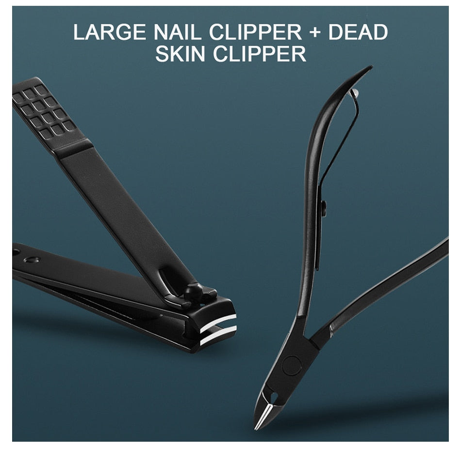 Fashionable 23-Piece Nail Clippers Professional Pedicure Scissors Set Cuticle Eagle Hook Tweezers Manicure  Nail Cutter Tool Set
