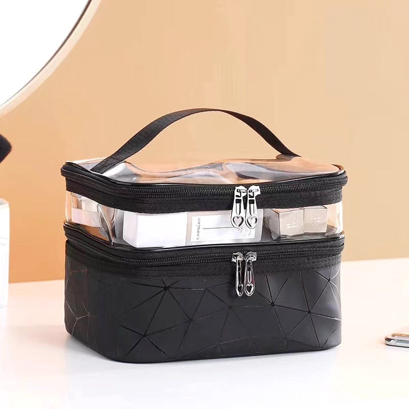 Multifunction Travel  Makeup Fashion Cosmetic Bag Toiletries Organizer Waterproof Females Storage Make Up Cases
