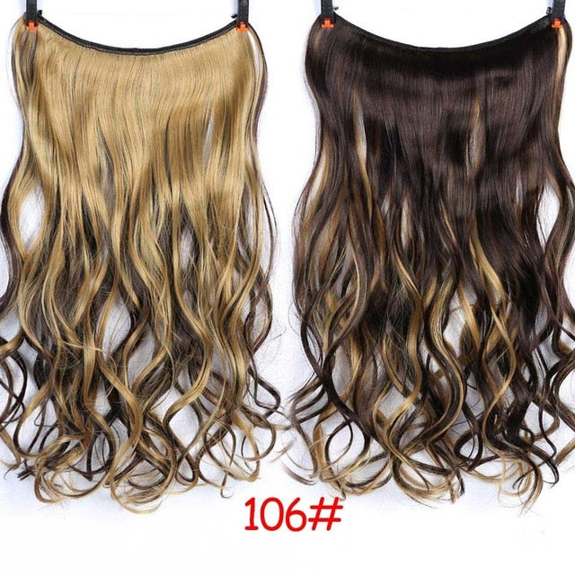 "24"" Invisible Wire Extensions Secret Fish Line Hairpieces"