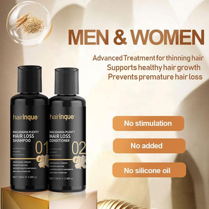 Macadamia Plenty Hair Loss Shampoo Conditioner Set For Hair Regrowth Repair Hair Root Thicken Hair Care Set