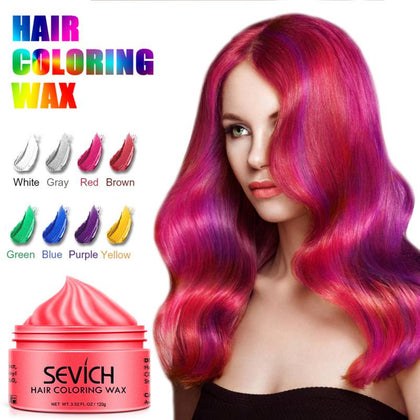 Disposable Hair Color Wax Styling DIY Mud Paste Dye Cream Hair Gel