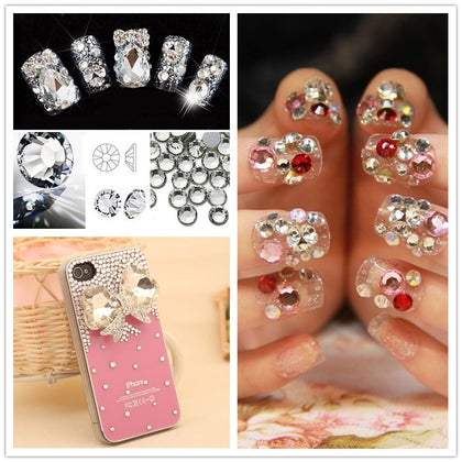 AB crystal flat back rhinestone diamond gem 3D glitter nail art decoration for Nails Accessories
