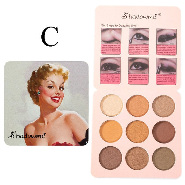 Matte Eye Shadow Shimmer Pigment Waterproof Mineral Balm Shade Nude Cosmetic Professional Eyeshadow Pallete