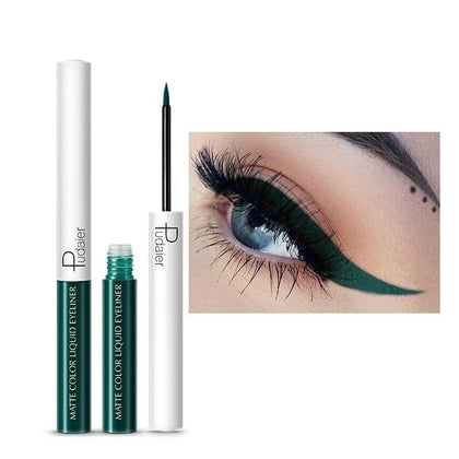 Long Lasting Liquid Eyeliner Makeup Waterproof  Fast Dry Liquid Eyeliner Matte Multicolor Eye Liner