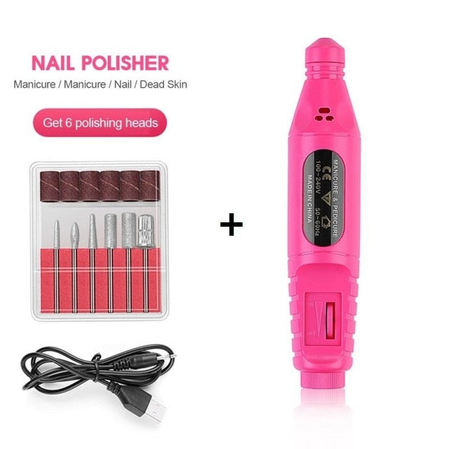 Electric Nail Drill USB Charging Manicure Machine