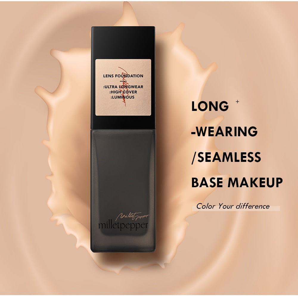 Face Foundation Cream Matte Base Makeup Full Coverage Liquid