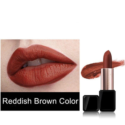 Lipstick Velvet Matte Professional Lips Makeup Red Brown Moisturized Waterproof Long Lasting Silky Lipstick