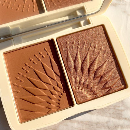 Face Makeup Bronzer Palette Smooth Pigmented Without Talc Natural Matte Blush Powder
