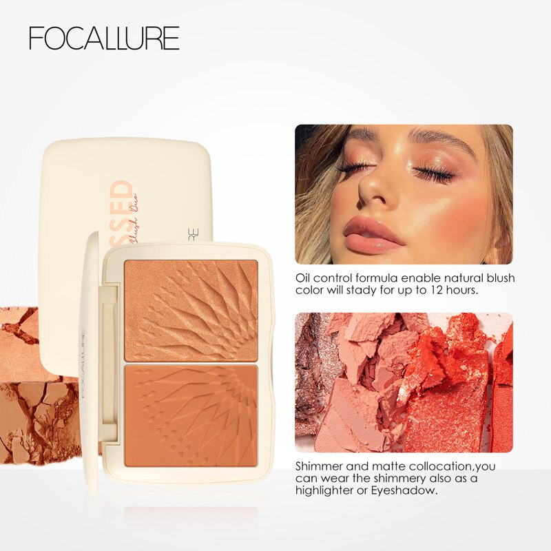 Face Makeup Bronzer Palette Smooth Pigmented Without Talc