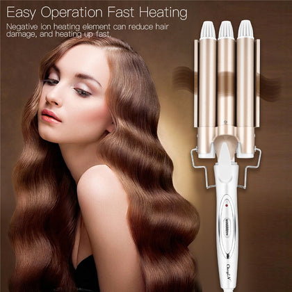 3 Barrels Professional Hair Curling Iron