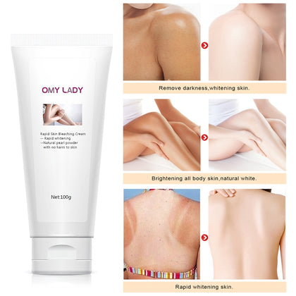 Rapid Skin Bleaching Cream Whitening Body cream moisturizing Remove melanin Improve dull skin Fade spot Ant-aging