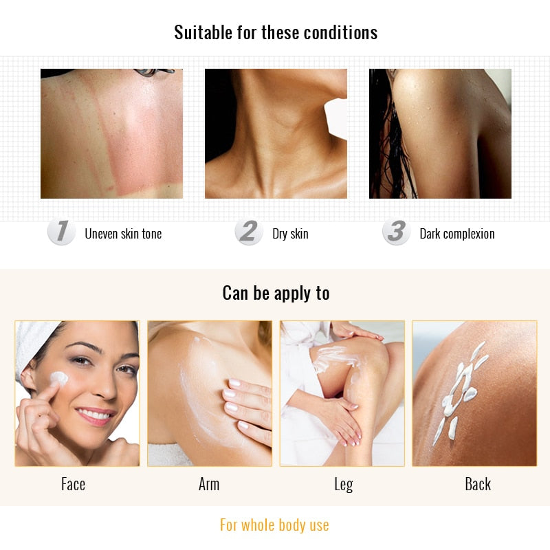 Rapid Skin Bleaching Cream Whitening Body cream moisturizing  Remove melanin