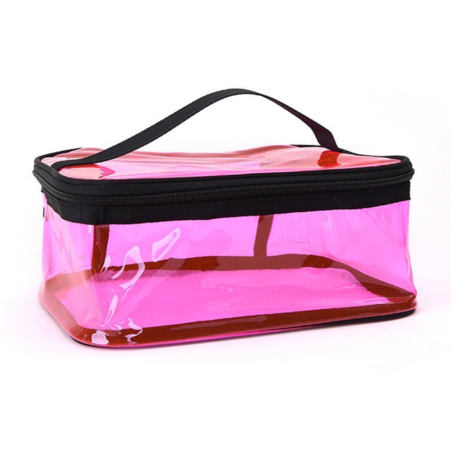 Hot Sale PVC Cosmetic Bag Waterproof Women Make Up Case Travel Clear Makeup Beauty Wash Organizer Bath Toiletry