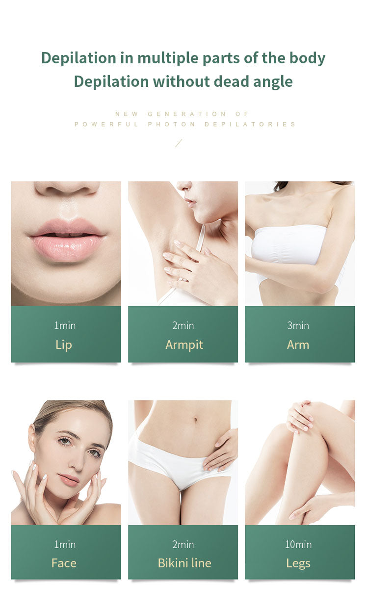 Laser Epilator Painless Flashes IPL Hair Removal Women Facial Body Permanent Hair Remover Device Electric Laser Epilator