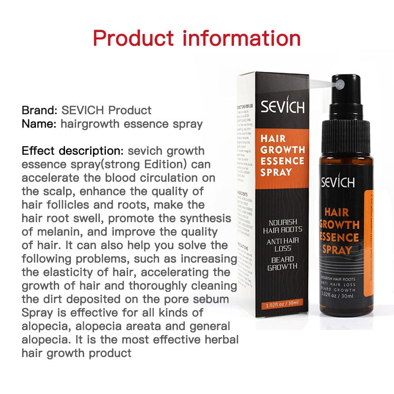 Hair Growth Spray Natural Regrowth Essence Intensive Spray Hair Loss Products  Grow Faster Serum Repair Scalp