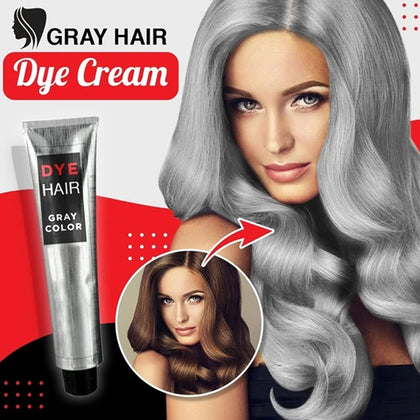 Gray Hair Dye Cream Permanent Hair Color Unisex Smoky Gray Punk Cool Light Grey Silver Hair Dye Color Paint Wax