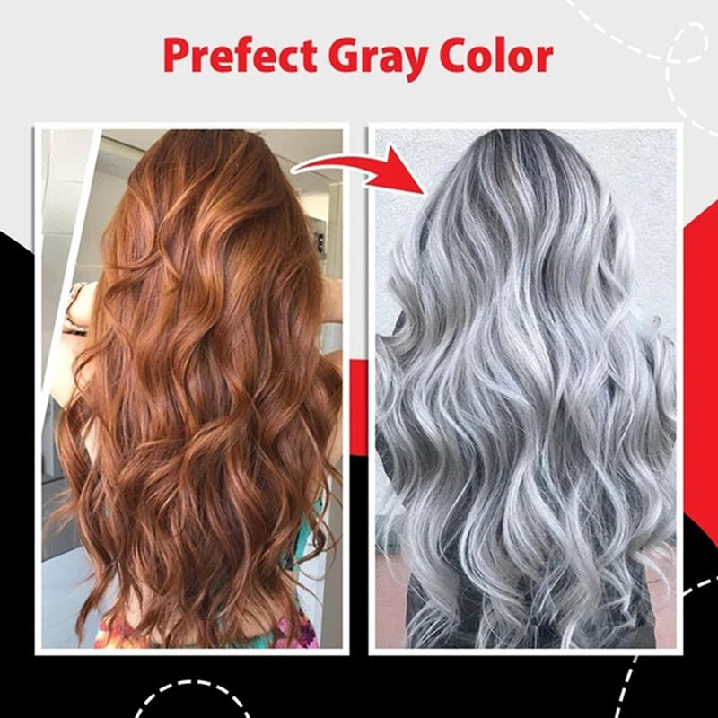 Gray Hair Dye Cream Permanent Hair Color Unisex Smoky Gray Punk Cool Light Color Paint Wax