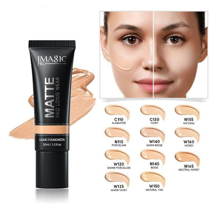 Liquid Foundation Natural Brightening Base Makeup Lasting Waterproof oil control Beauty Makeup Foundation Cream