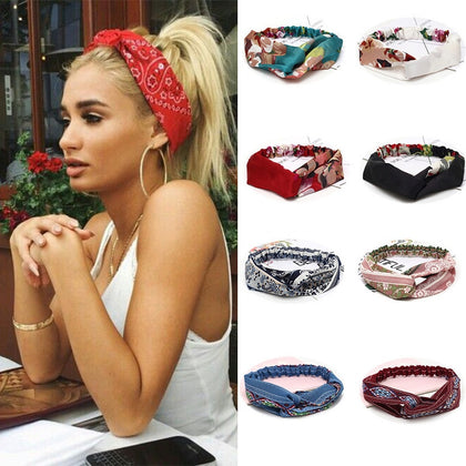 New Fashion Hair Bands Bohemian Cross Elastic For Ladies Hair Accessories