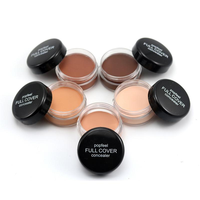 Full Cover Concealer Cream Monochrome Eye Dark Circles Scars Facial Body Concealer