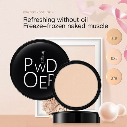 Full Coverage Long Lasting Makeup Face Powder Foundation Compact Powder