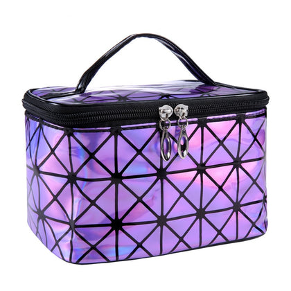 Women Cosmetic High Quality  Bag  Lady Lattice Make Up Brushes Bag