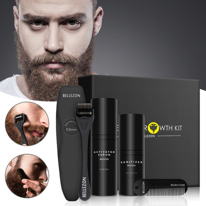 Beard Growth Kit Men's Beard Growth Oil Nourishing Enhancer Beard Oil Beard Care With Comb