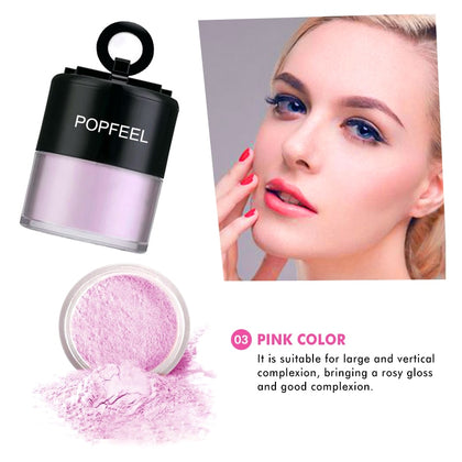Smooth Loose Powder Skin-made Brighten Oil-control Powder With Puff