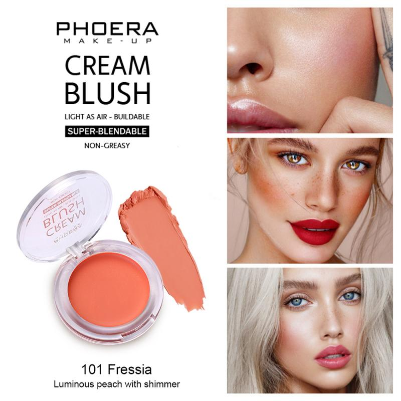 Natural Long Lasting Waterproof Pearlescent Matte Blush Cream