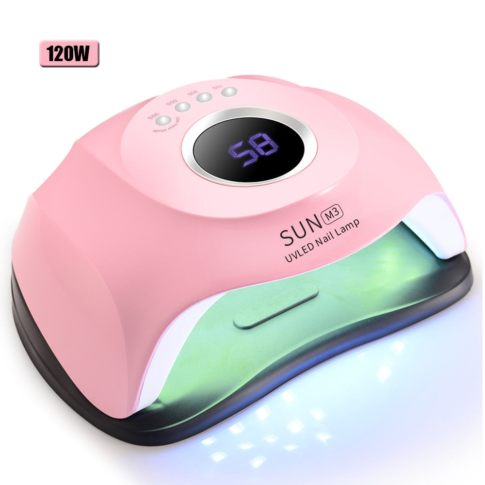 LED  Beads UV  Nail Lamp With Sensor 90s/60s/30s/10s timer LED display screen For All Gels Efficient Nail Dryer