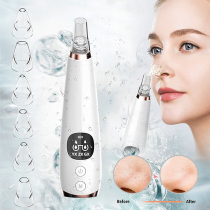 Blackhead Remover Face Deep Nose Cleaner T Zone Pore Acne Pimple Removal Vacuum Suction Facial Skin Tool