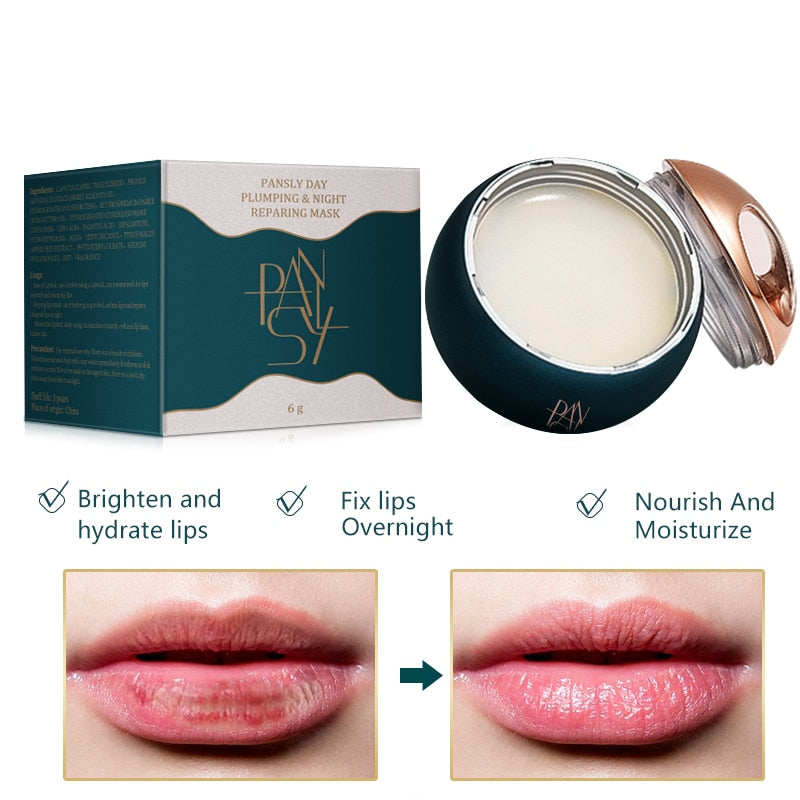 Pro Lip Sleeping Mask Shea Butter Repair Lip Balm Maintenance Moistened Nourish Sleeping Maintenance Lips