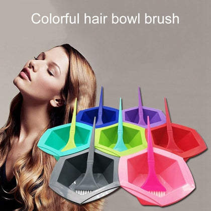 7 Piece Set Hair Color Bowl and Brush Set, Hair Coloring Highlighting Tools on Hair Dye, Rainbow Hair Color Mixing Bowls Brushes