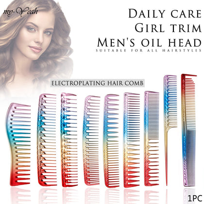 9 Styles Hair Comb Rainbow Double-head Comb
