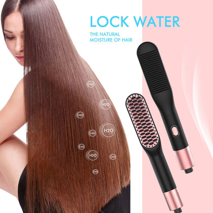 3 in 1 Straightener Brush Hair Straightening Comb g Irons Portable Heating Irons Tool