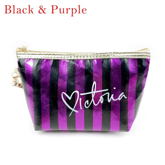 Fashion PU Leather Cosmetic Storage Bags  Make Up Bag PVC Pouch Wash Toiletry Travel Organizer Case