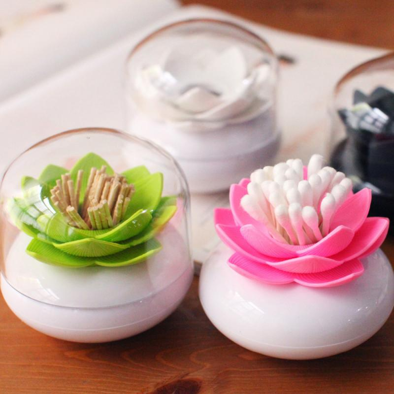Creative Lotus Cotton Swab Cotton Bud Holder Base