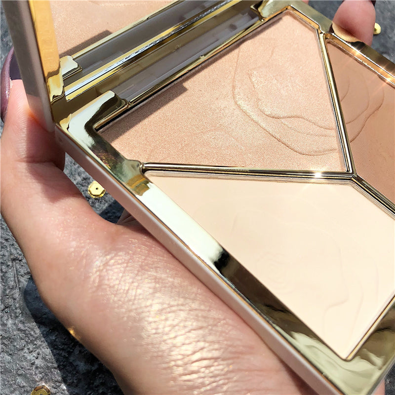 3D Bronzer Highlighter For Face Makeup