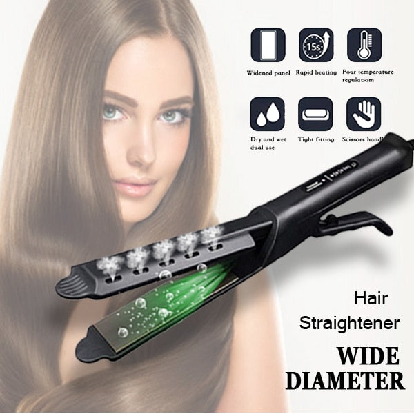 Hair Straightener Four-gear temperature adjust Ceramic Ionic Flat Hair Iron curler Hair Straightener