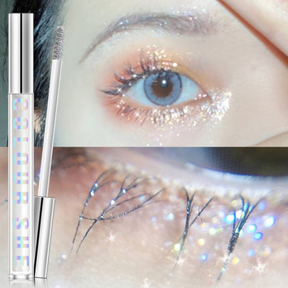 Diamond Shiny Charm Mascara  Waterproof Curling Eyelashes Extension Cosmetics Makeup Silk Quick Dry Glitter Mascara