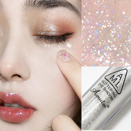 Diamond Glitter Eyeshadow Women Makeup Nude Shimmer Liquid Eye Shadow Mineral Pigment Long-Lasting Cosmetics Maquillaje