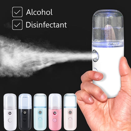 Mini Nano Face Steamer USB Nebulizer Facial Sprayer Humidifier  Anti-aging Wrinkle Women Beauty Skin Care Disinfect