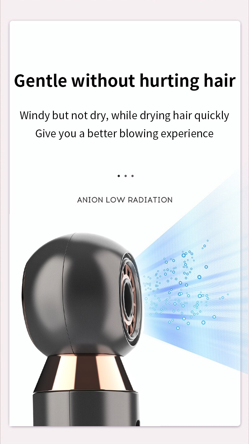 Electric Hair Dryer Portable Personal Hair Dryer with Hot Cold Wind
