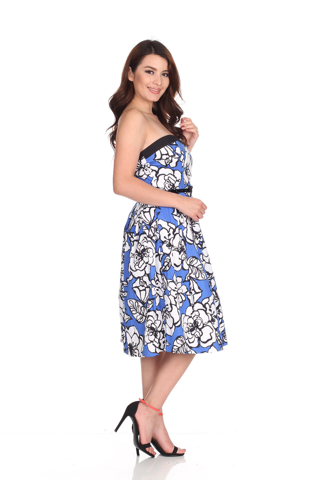 Blue Floral Dress Tube