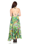 Maxi Halter Neck Dress Floral Light Green