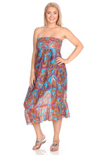 Tube Dress Paisley / Floral Print
