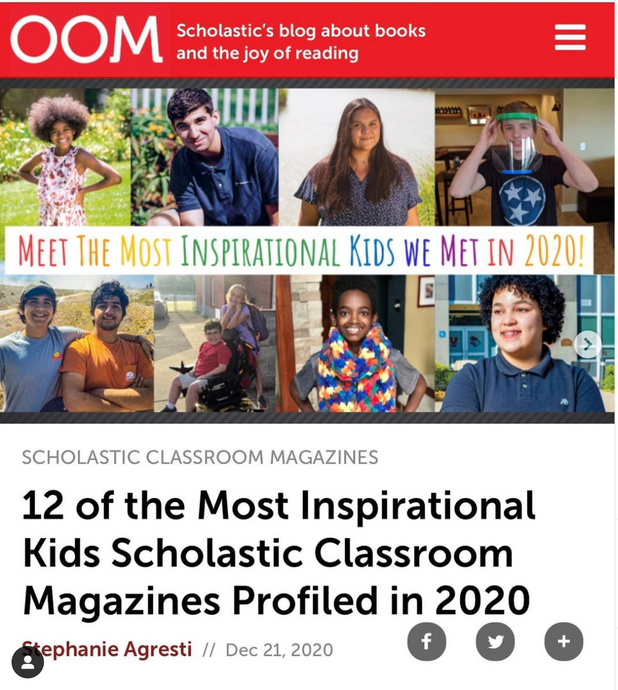 Huge Shoutout to Scholastic for the Recognition!