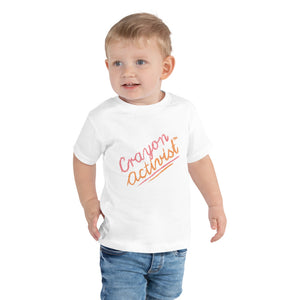 Toddler Crayon Activist™ Short Sleeve Tee